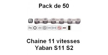 PACK 50 Chaines 11 vitesses YABAN S11 S2