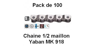 "Pack 100 Chaines Yaban 1/2 Maillon 1/2"" x 1/8"" MK 918"