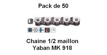 "Pack 50 Chaines Yaban 1/2 Maillon 1/2"" x 1/8"" MK 918"