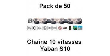 Pack 50 Chaines 10 vitesses Yaban S10