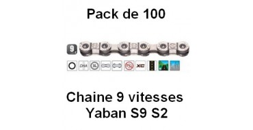Pack 100 Chaines 9 vitesses Yaban S9 S2