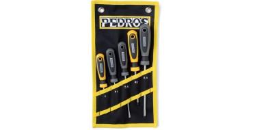 Jeu de 5 tournevis professionnel PEDROS Screwdriver Set - 5 piece