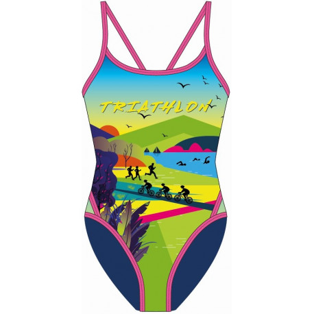 SWEAMS TRIATHLON SPIRIT - Maillot femme 1 piece bretelles fines