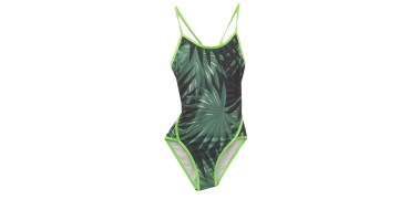 SWEAMS GREEN FOREST - Maillot femme 1 piece bretelles fines