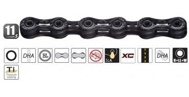 Chaine 11 vitesses YABAN SFL 110 Ti Black